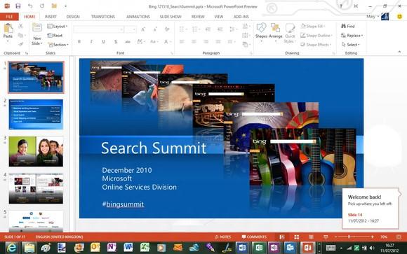 Office 2013 review Last slide