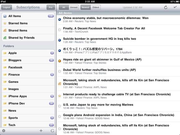 Feeddler RSS Reader for iPad